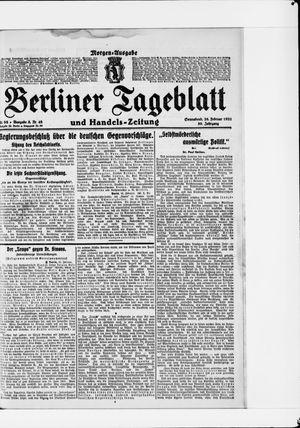 Berliner Tageblatt und Handels-Zeitung vom 26.02.1921