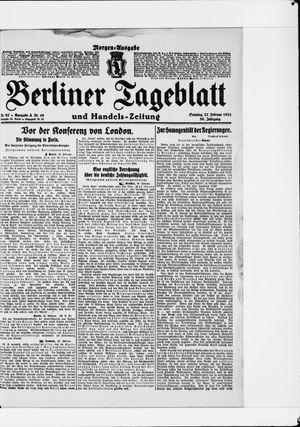 Berliner Tageblatt und Handels-Zeitung vom 27.02.1921