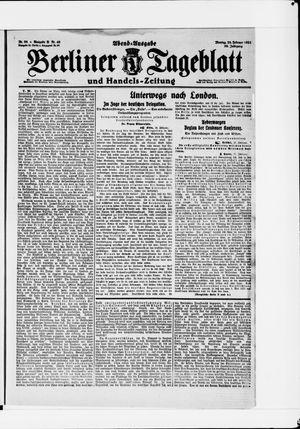 Berliner Tageblatt und Handels-Zeitung vom 28.02.1921