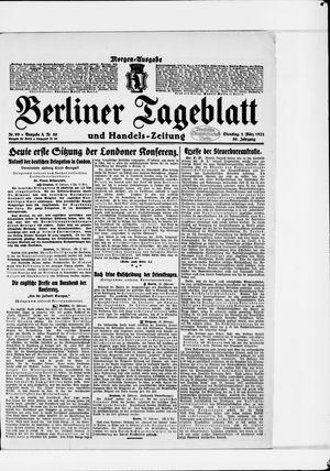 Berliner Tageblatt und Handels-Zeitung vom 01.03.1921