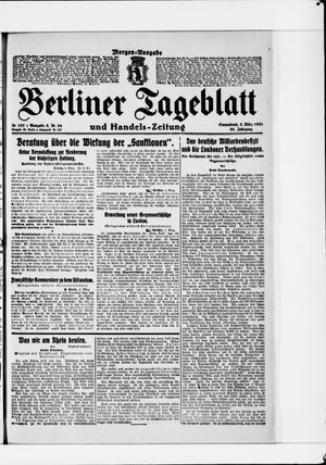 Berliner Tageblatt und Handels-Zeitung vom 05.03.1921