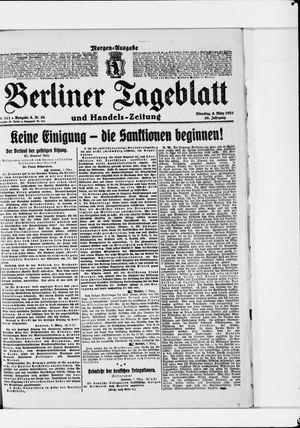 Berliner Tageblatt und Handels-Zeitung vom 08.03.1921