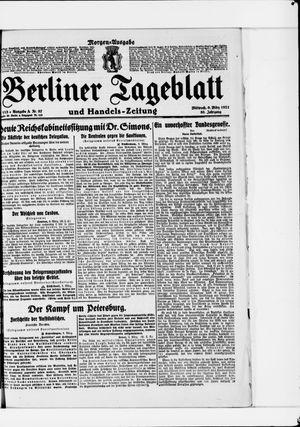 Berliner Tageblatt und Handels-Zeitung vom 09.03.1921
