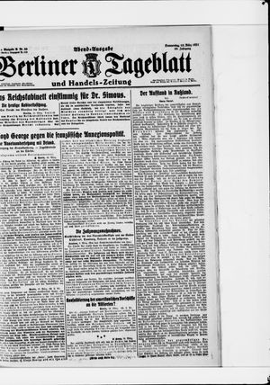 Berliner Tageblatt und Handels-Zeitung vom 10.03.1921