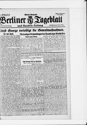Berliner Tageblatt und Handels-Zeitung vom 11.03.1921
