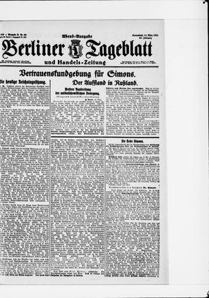 Berliner Tageblatt und Handels-Zeitung vom 12.03.1921