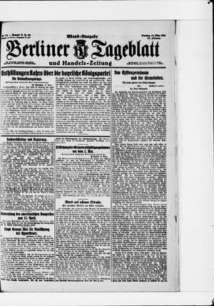 Berliner Tageblatt und Handels-Zeitung vom 15.03.1921