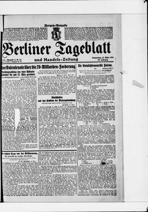 Berliner Tageblatt und Handels-Zeitung vom 17.03.1921