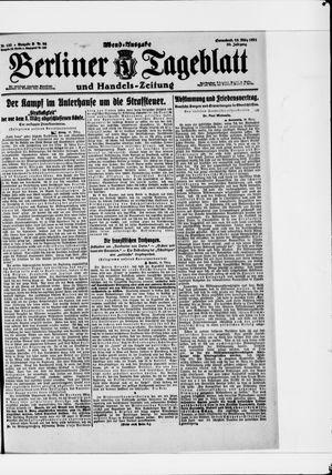 Berliner Tageblatt und Handels-Zeitung vom 19.03.1921
