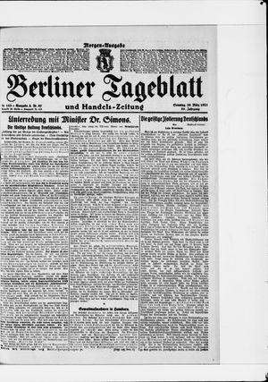 Berliner Tageblatt und Handels-Zeitung vom 20.03.1921