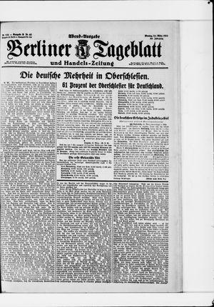 Berliner Tageblatt und Handels-Zeitung vom 21.03.1921