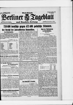 Berliner Tageblatt und Handels-Zeitung vom 22.03.1921