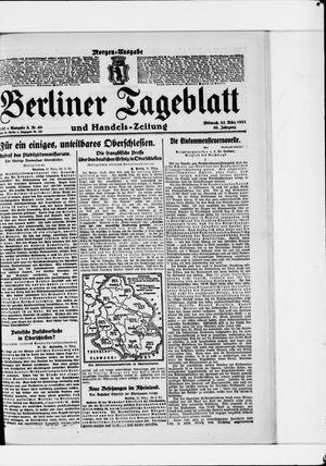 Berliner Tageblatt und Handels-Zeitung on Mar 23, 1921