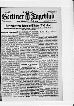 Berliner Tageblatt und Handels-Zeitung vom 24.03.1921