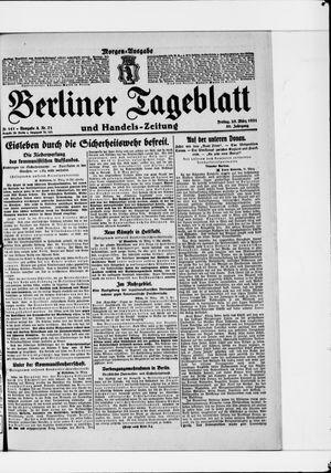 Berliner Tageblatt und Handels-Zeitung vom 25.03.1921