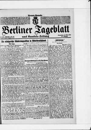Berliner Tageblatt und Handels-Zeitung vom 26.03.1921