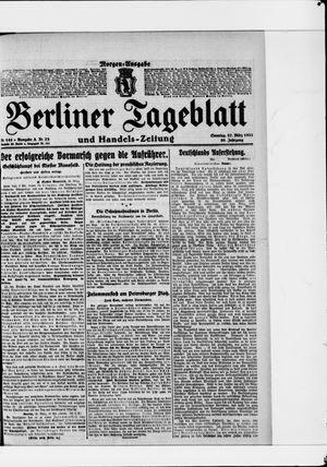 Berliner Tageblatt und Handels-Zeitung vom 27.03.1921