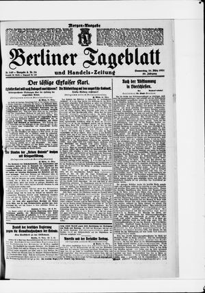 Berliner Tageblatt und Handels-Zeitung vom 31.03.1921