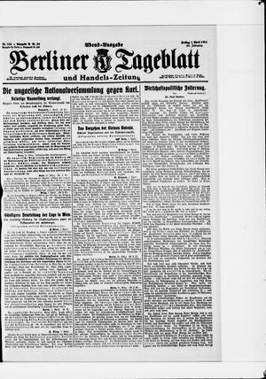 Berliner Tageblatt und Handels-Zeitung vom 01.04.1921