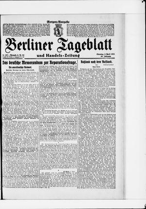 Berliner Tageblatt und Handels-Zeitung vom 05.04.1921