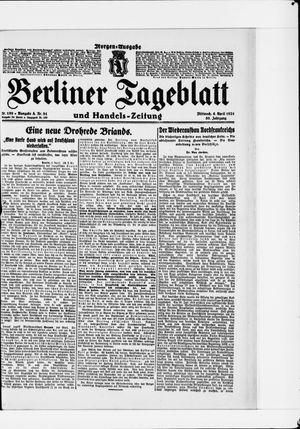 Berliner Tageblatt und Handels-Zeitung vom 06.04.1921