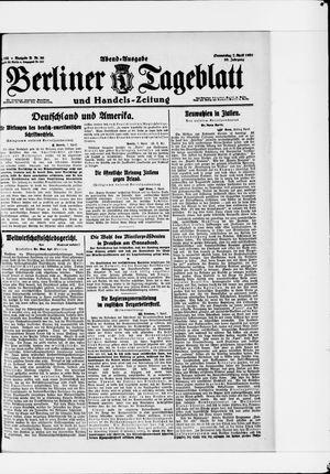 Berliner Tageblatt und Handels-Zeitung vom 07.04.1921