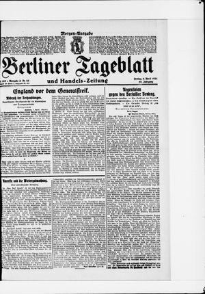 Berliner Tageblatt und Handels-Zeitung vom 08.04.1921