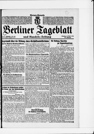 Berliner Tageblatt und Handels-Zeitung vom 10.04.1921