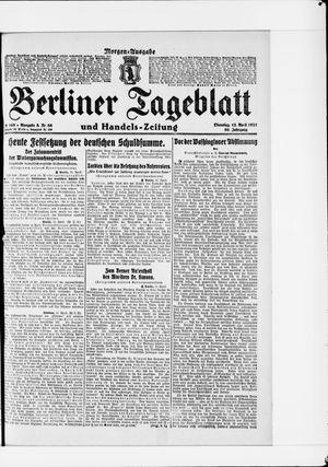 Berliner Tageblatt und Handels-Zeitung vom 12.04.1921