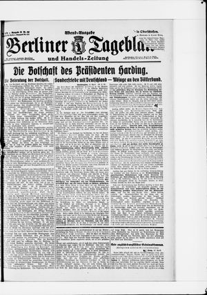 Berliner Tageblatt und Handels-Zeitung vom 13.04.1921