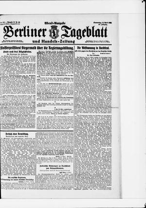 Berliner Tageblatt und Handels-Zeitung vom 14.04.1921