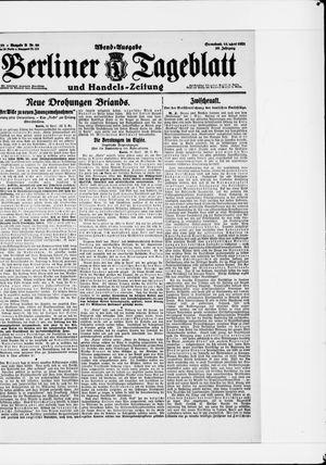 Berliner Tageblatt und Handels-Zeitung vom 16.04.1921