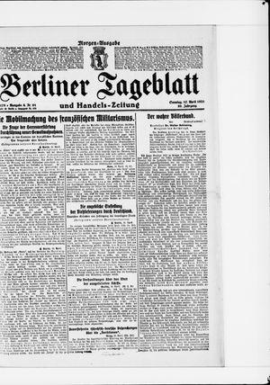 Berliner Tageblatt und Handels-Zeitung vom 17.04.1921