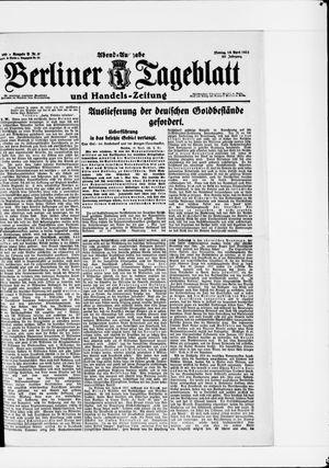 Berliner Tageblatt und Handels-Zeitung vom 18.04.1921
