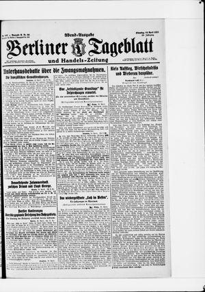 Berliner Tageblatt und Handels-Zeitung vom 19.04.1921