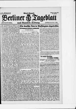 Berliner Tageblatt und Handels-Zeitung vom 25.04.1921