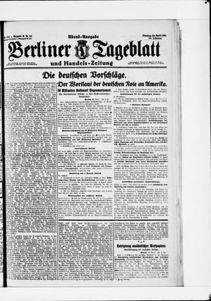 Berliner Tageblatt und Handels-Zeitung vom 26.04.1921