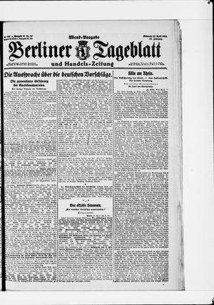 Berliner Tageblatt und Handels-Zeitung vom 27.04.1921