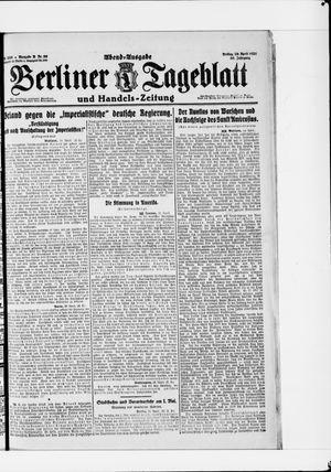 Berliner Tageblatt und Handels-Zeitung vom 29.04.1921