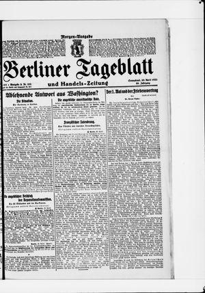 Berliner Tageblatt und Handels-Zeitung vom 30.04.1921