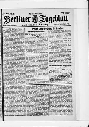 Berliner Tageblatt und Handels-Zeitung vom 02.05.1921