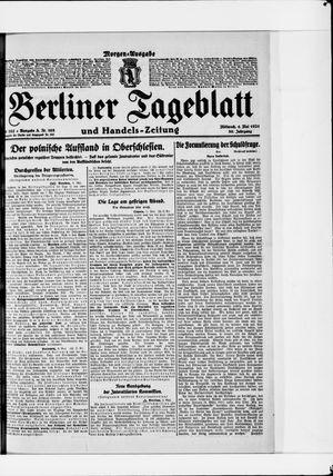 Berliner Tageblatt und Handels-Zeitung vom 04.05.1921