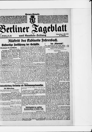 Berliner Tageblatt und Handels-Zeitung vom 05.05.1921