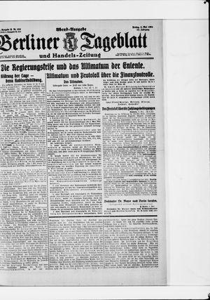 Berliner Tageblatt und Handels-Zeitung vom 06.05.1921