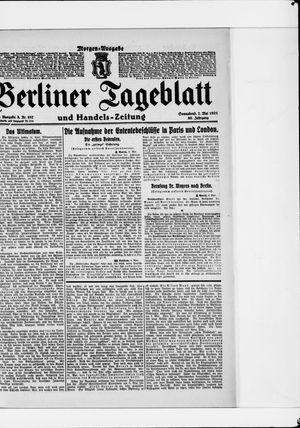 Berliner Tageblatt und Handels-Zeitung vom 07.05.1921