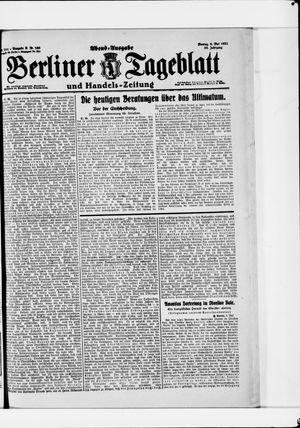 Berliner Tageblatt und Handels-Zeitung vom 09.05.1921
