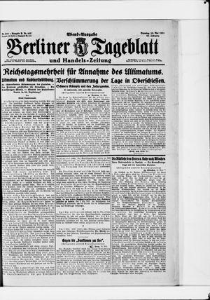 Berliner Tageblatt und Handels-Zeitung vom 10.05.1921