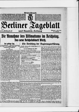 Berliner Tageblatt und Handels-Zeitung vom 11.05.1921