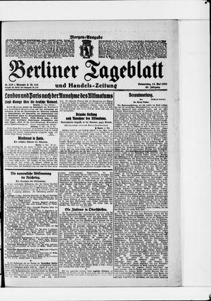 Berliner Tageblatt und Handels-Zeitung vom 12.05.1921