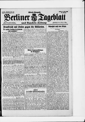 Berliner Tageblatt und Handels-Zeitung vom 13.05.1921